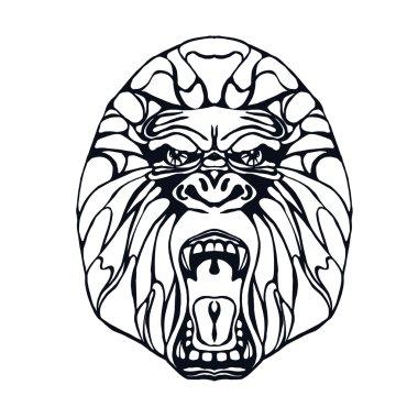 Growling gorilla tattoo