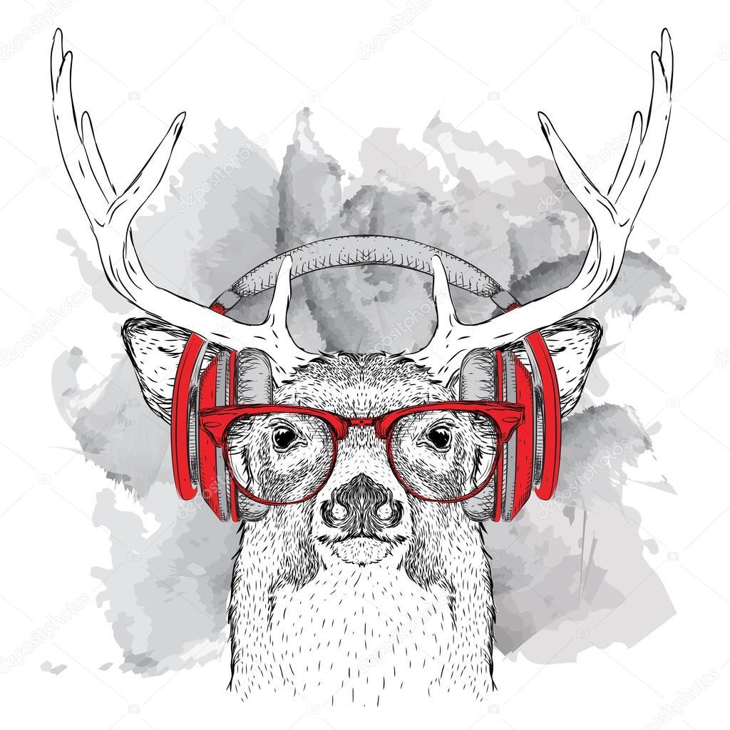 прозе или картинка олень в очках возрасту как раз