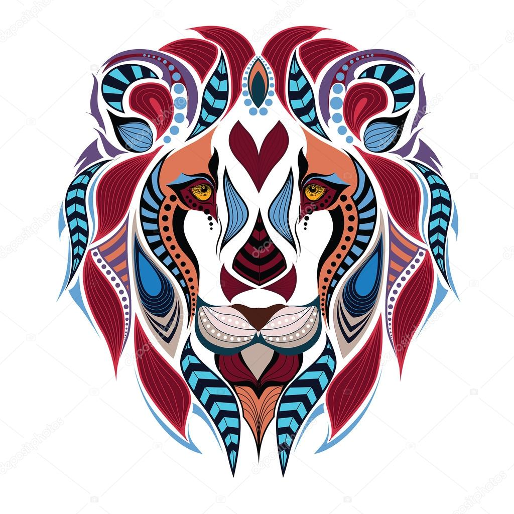Dibujos Leon A Color Cabeza Color Con Dibujos De Un León áfrica