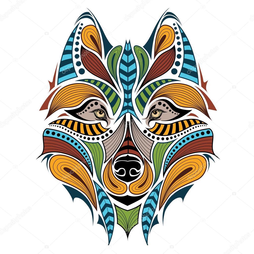 Imágenes Mandala De Lobo A Color Cabeza Color Con Motivos Del