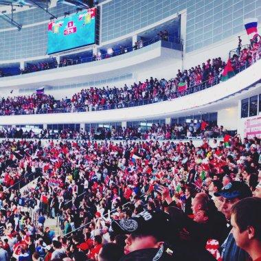 Hockey fans at Minsk Arena