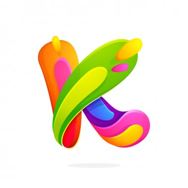 K letter colorful logo.