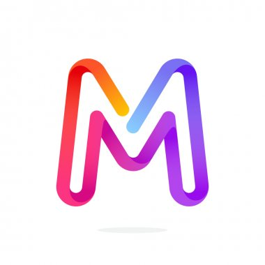 M letter colorful logo.