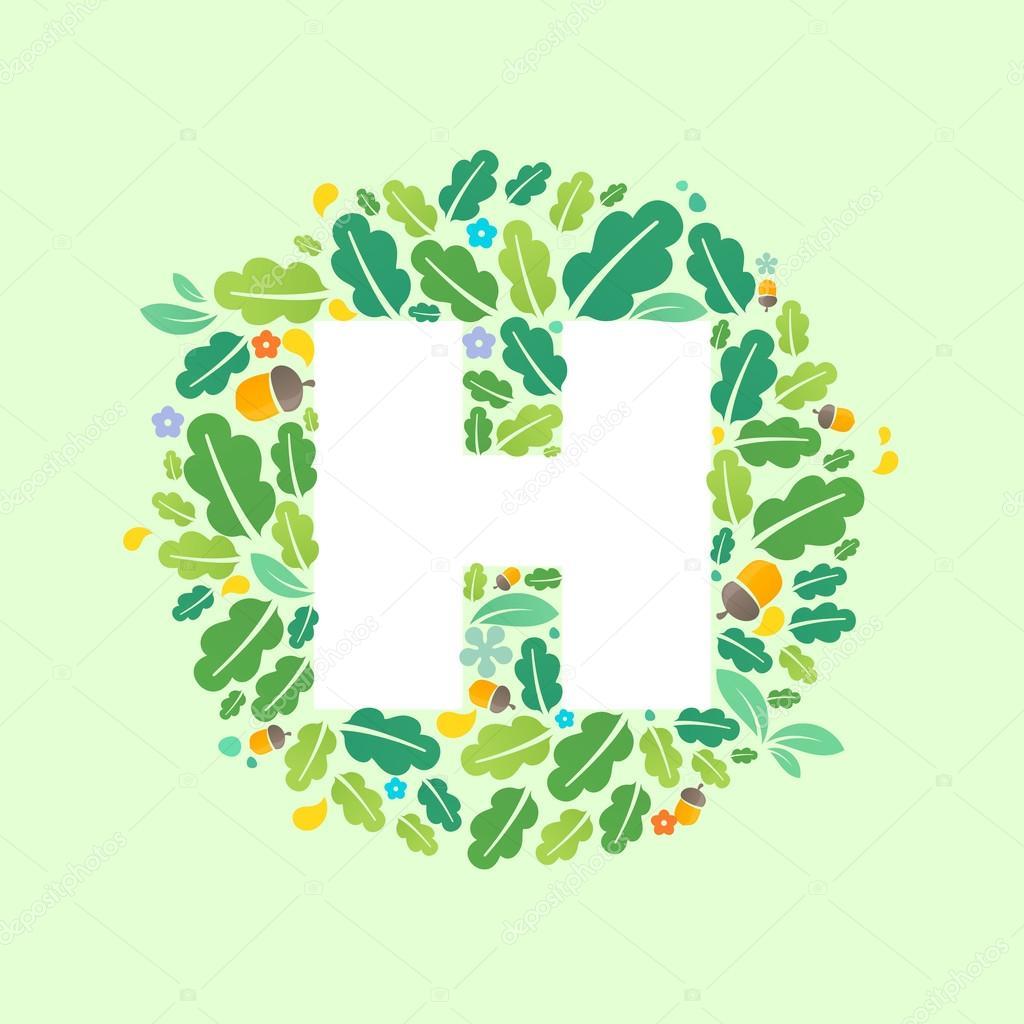 9a84aebce Logotipo de letra H em círculo — Vetor de Stock © kaer dstock  102974276