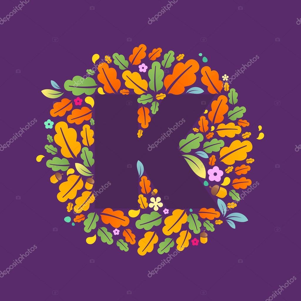 K letter logo in circle