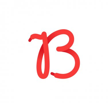 B letter logo formed by shoe lace.