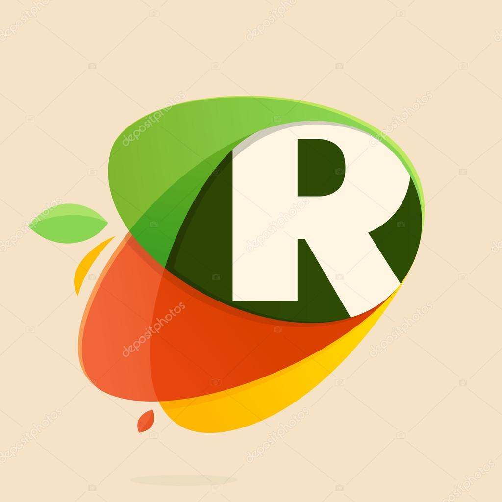 r letter with healthy food shapes stock vector kaer dstock