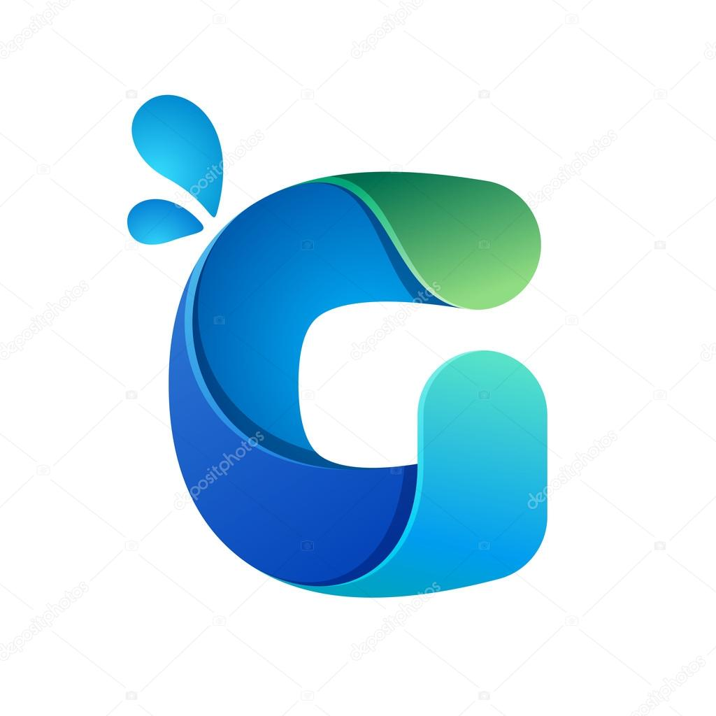 G letter with water waves and drops stock vector kaerdstock g letter with water waves and drops stock vector altavistaventures Images
