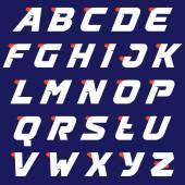 Sport alphabet logos design template.