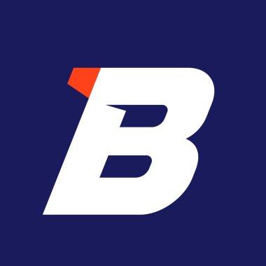 B letter sport logo design template.