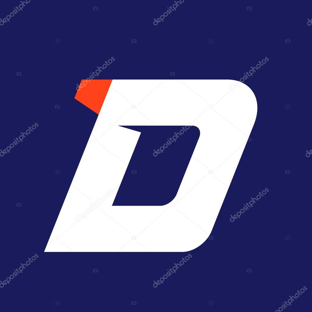 509a11a23 Modelo de design de logotipo esporte D letra — Vetores de Stock ...