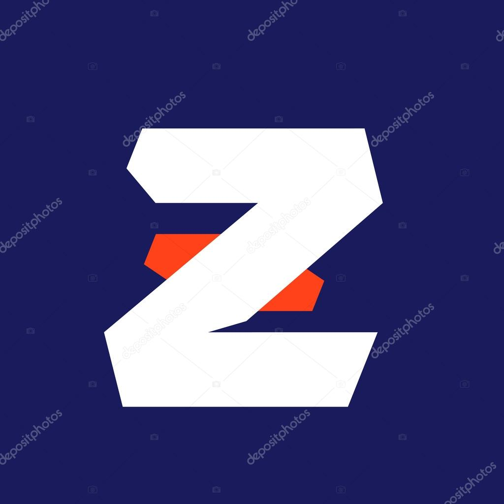 ad3ef06a2 Modelo de design de logotipo esporte Z letra — Vetor de Stock ...