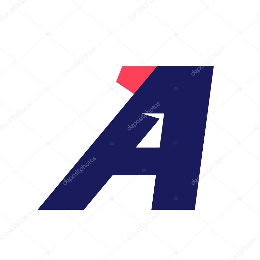 2d42262ec Modelo de design de logotipo execução letra A — Vetores de Stock ...