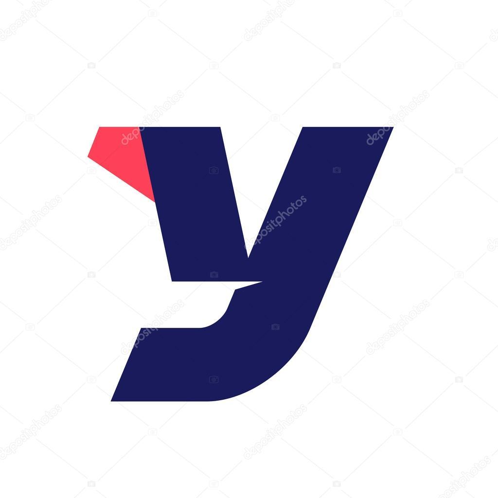 30b3c4ed2 Letra Y executar o modelo de design de logotipo — Vetor de Stock ...