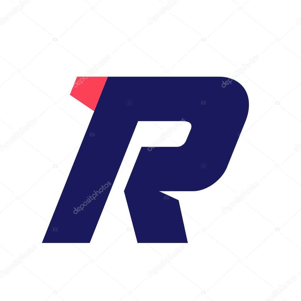 356867299 Letra R executar o modelo de design de logotipo — Vetores de Stock ...