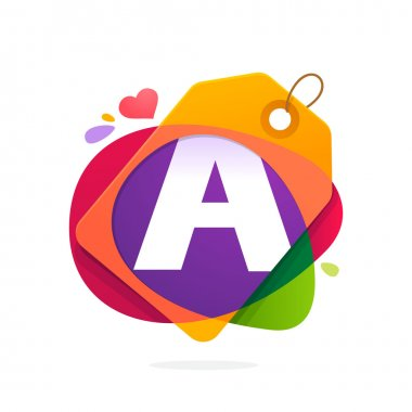 Letter A logo with Sale tag.
