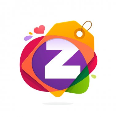 Z letter logo with Sale tag.
