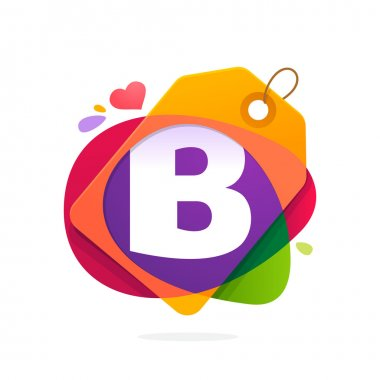 B letter logo with Sale tag.