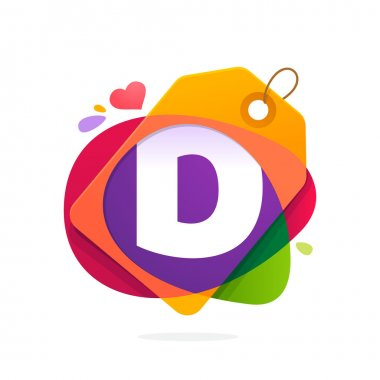 D letter logo with Sale tag.