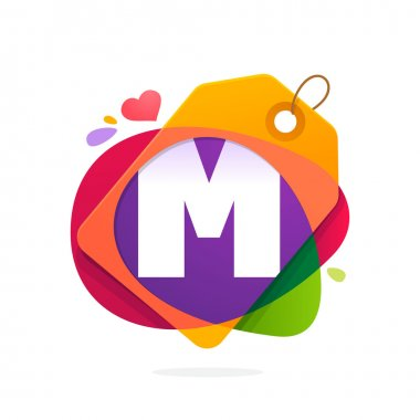 M letter logo with Sale tag.