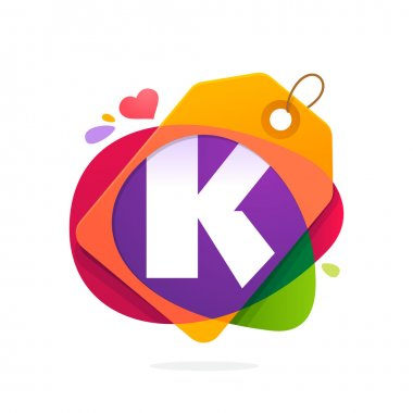 K letter logo with Sale tag.