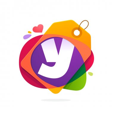 Y letter logo with Sale tag.