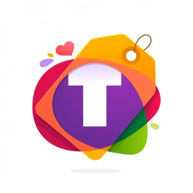 T letter logo with Sale tag.