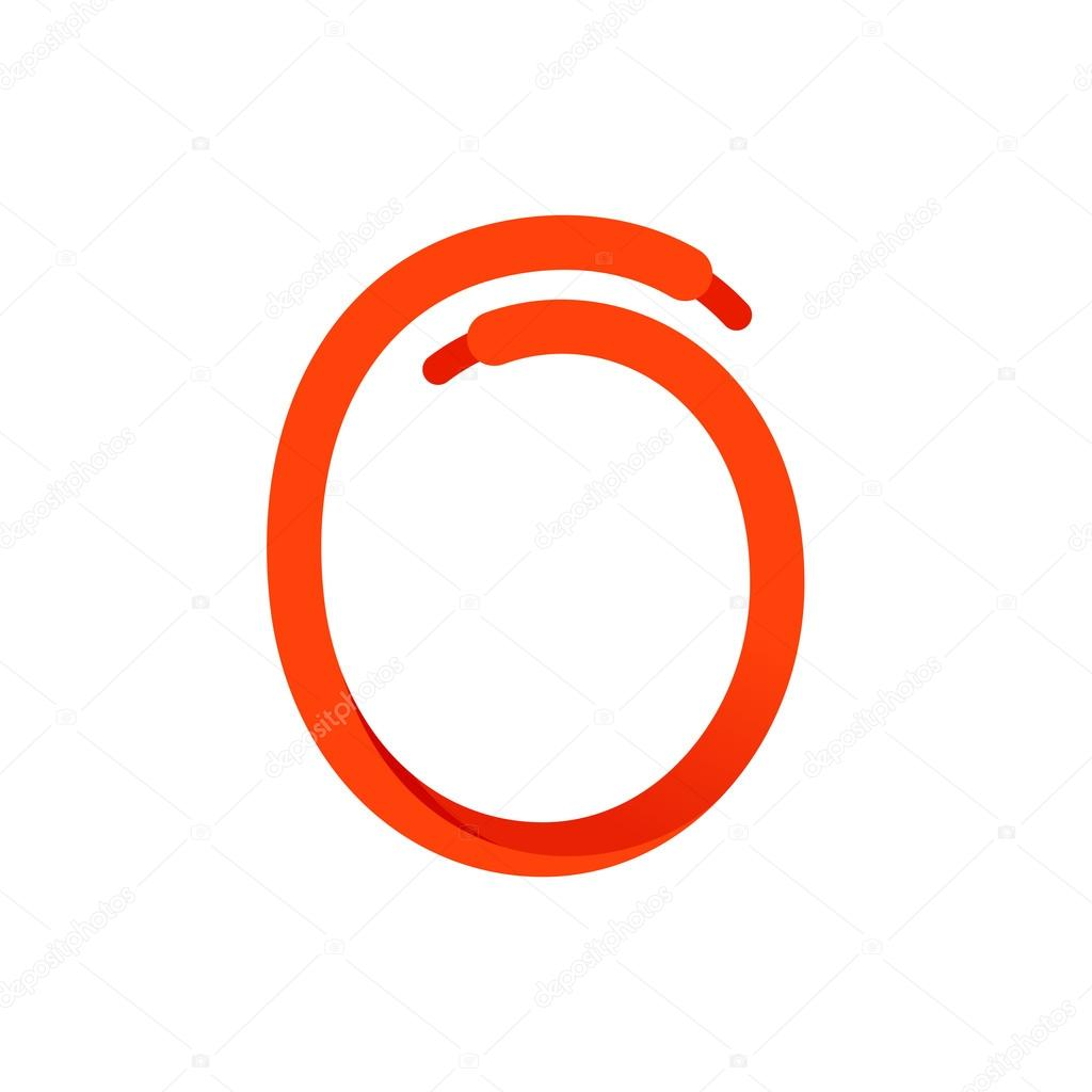 Number Zero Logo Formed By Shoe Lace Stock Vector