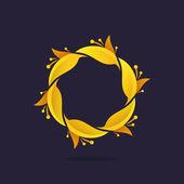 Arany kitüntetés babér koszorút logó.