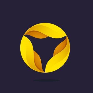 Gold award laurel wreath logo.
