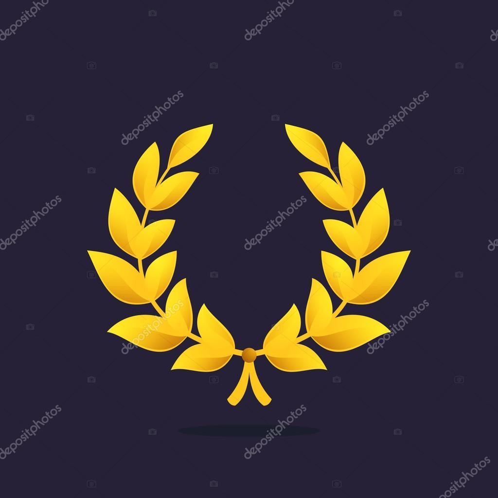 logo de couronne de laurier palme d or image vectorielle kaer dstock 121079374. Black Bedroom Furniture Sets. Home Design Ideas