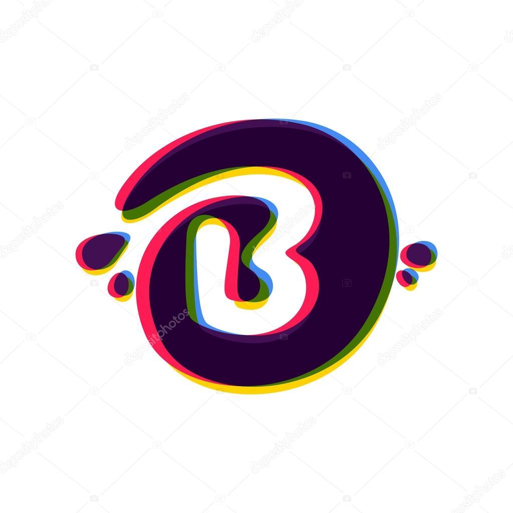 B Logo letter b logo with color shift. — stock vector © kaer_dstock #122583666
