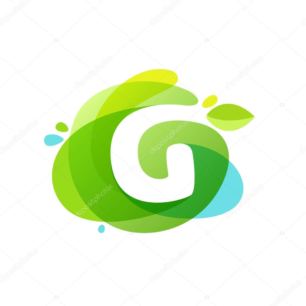 Water letter g stock vectors royalty free water letter g letter g logo at green watercolor splash background stock vector altavistaventures Images