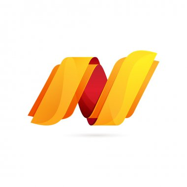 N letter Abstract  logo element