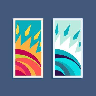 Design vector sun logo elements