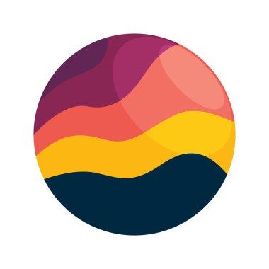Sunset vector logo icon