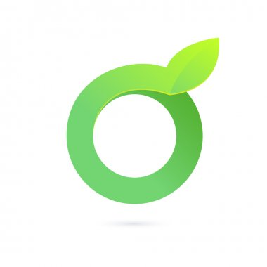O letter green logo icon