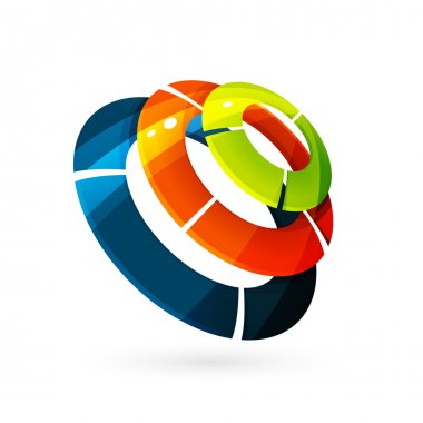 circles 3d volume logo