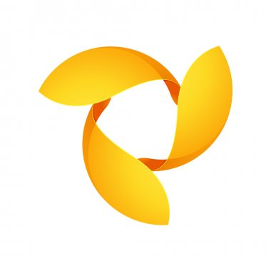 Abstract yellow sphere logo