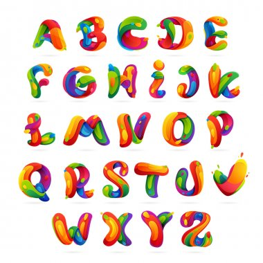 Fun english alphabet letters set.