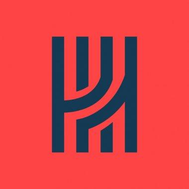 H letter line logo