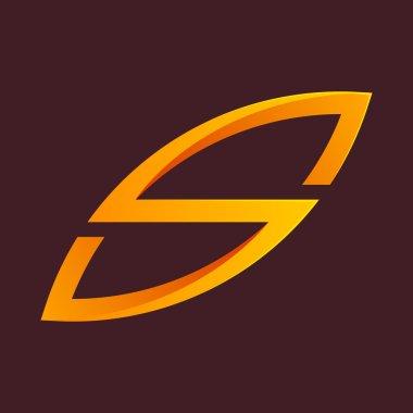 Orange S letter line logo