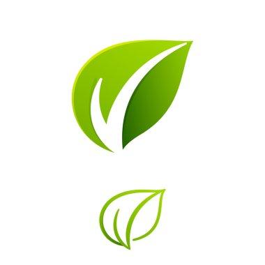 V letter  Eco logo