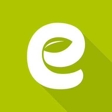 E letter green logo icon