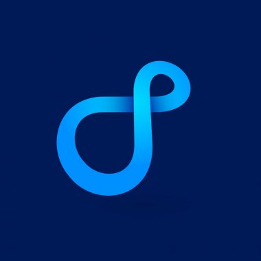 Unreal infinity blue logo