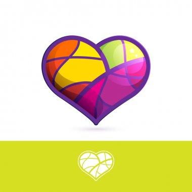 Heart mosaic logo