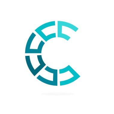 C letter line logo