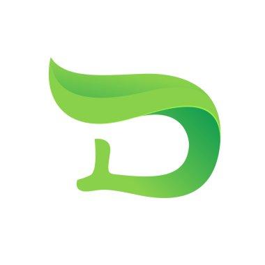 D letter Eco logo