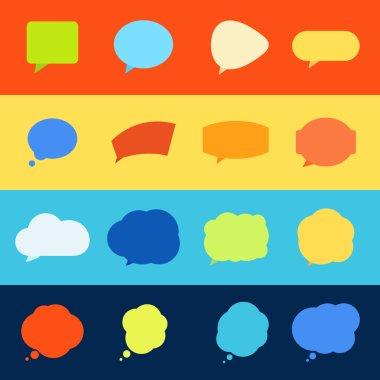Set of complex speech balloons