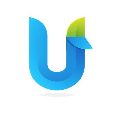 U letter green logo icon